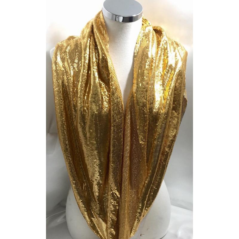 150 * 45CM divatos arany fém hálószövet Fémszövet Sequin használata ruházati asztalra futó függöny cipők táskák lakberendezés