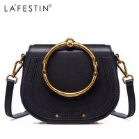 Lafestin 2017 Для женщин сумка седло сумки модные женские туфли сумка Роскошные дизайнерские бренды Bolsa