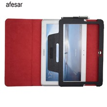 afesar New Rushed Waterproof 10.1″ Tab 2 10.1 P5100 P5110 Case Flip Stand Leather Folio Cover for Samsung Galaxy Tablet Gt-p5110