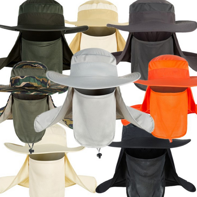 Summer Hat UV Protection Face Neck Fishing Cover Sunscreen Cap Hats H9