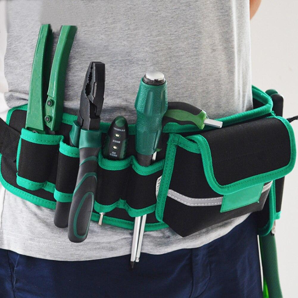 Auto Rig Hammer Tool Bag Waist Pockets Electrician Holder Pack Men Multi-Pockets Utility Pouch Belt Waterproof Hammers Organizer