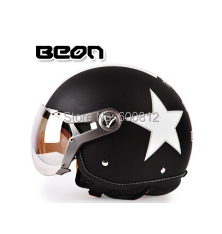 2017 New Netherlands BEON motorcycle half face helmet summer uv electric bicycle Pilot Air force helmets safety hat size M L XL 2016 newest netherlands authorization beon retro air force harley style half face motorcycle helmet b 100 of abs matte black cat