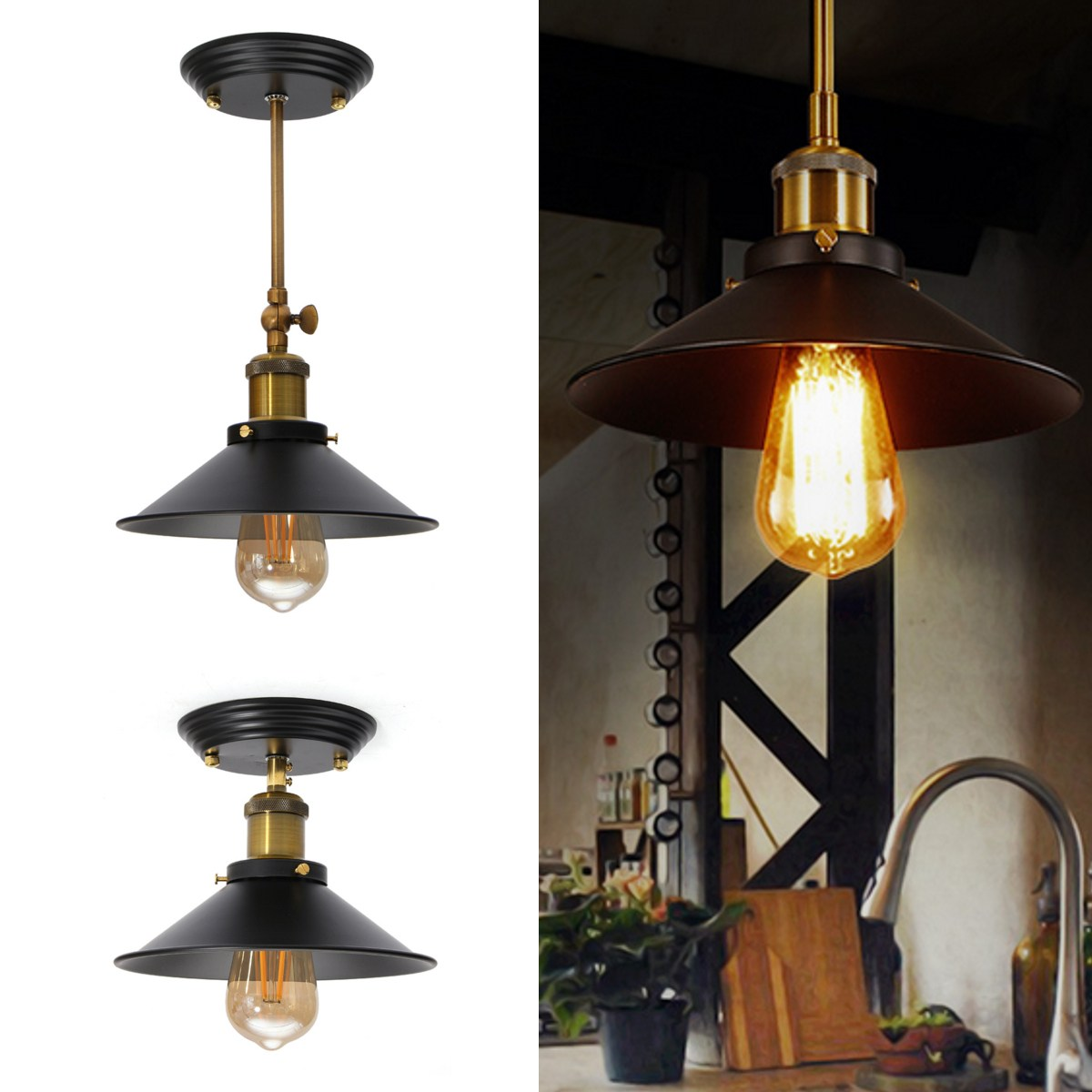 Vintage Pendant Lights Loft Pendant Lamp Retro Hanging