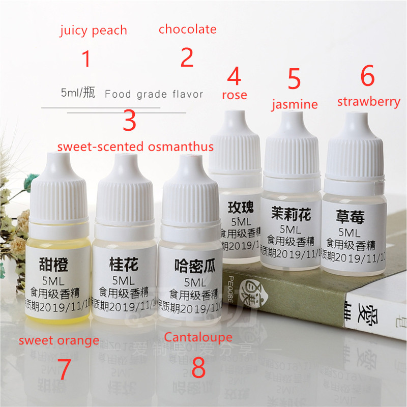 8bottles Oil-soluble Food Flavor,suitable For DIY Handmade Lipstick,soap,candle,extension Stone Flavor Additive