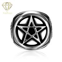 Thumb Ring Unique Punk Style Star Celebrity Movie Magic 316L Stainless Steel Finger Rings For Men