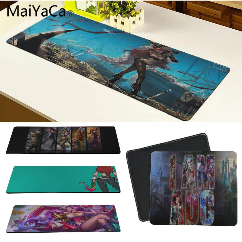 MaiYaCa 2018 New Miss Fortune Silicone Pad to Mouse Game Size for 180*220 200*250 250*290 300*800 and 300*900*2mm