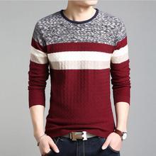 New 2017 Autumn Winter Warm Fashion Men's Luxury European Style Brand Soild V-Neck Sweater Slim Pullovers For Men 3 Color