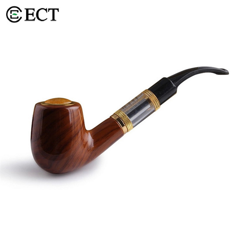 Electronic Cigarette ECT ePipe 618 VAPE Kit E pipe 618 Vapor with wood built in one 18650 battery Rechargeable E Pipe nigel mini e pipe 628 smoking kit best e pipe vaporizer new 618 vape mod pipe eletronic cigarette big vapor wooden e cig cheap
