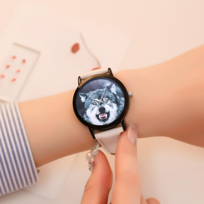 Wolf <font><b>Unisex</b></font> Beautiful Ladies WristWatch 2018 Fashion Simple Temperament Business Stainless Steel Souvenir gift hand clock #D image