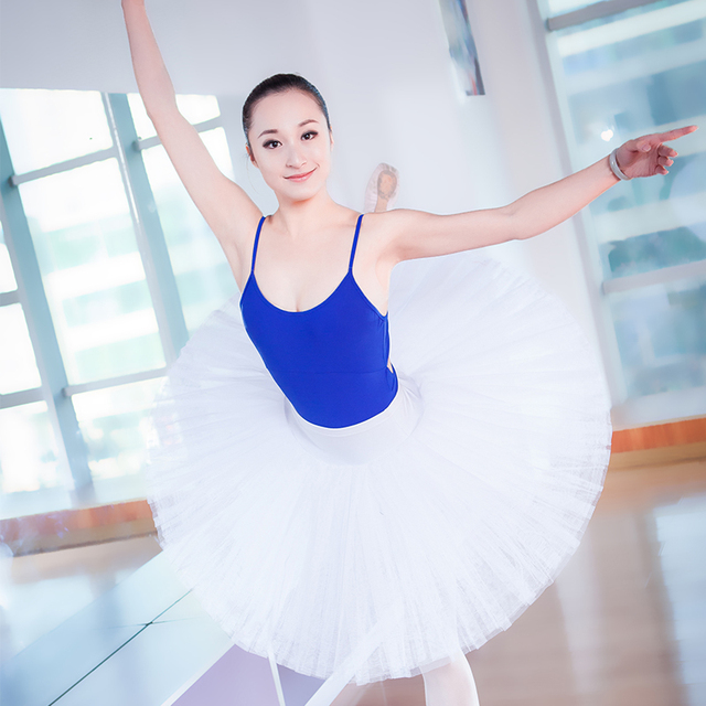 84f6324ca Professional Adult Girls Ballet Dance Tutu Hard Organdy Platter Skirt  Ballerina Tutu For Women