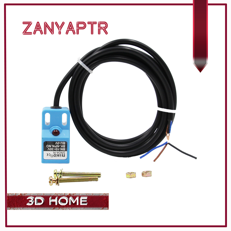 1PCS DC NPN NO 4mm SN04-N Proximity Switch Detection Distance Leveling Position Sensor For 3D Printer Parts