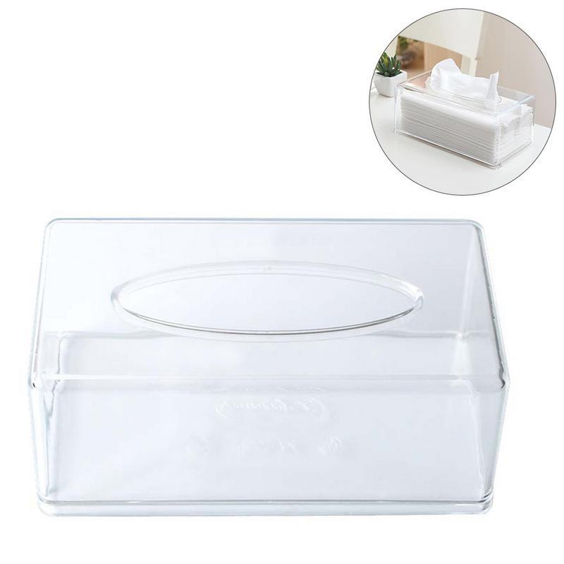 Transparent Acrylic Rectangular Tissue Box Cover Tissue Holder Facial Acrylic Tissue Box|Portable Toilet Paper Holders| |  - title=