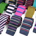 Moda Para Hombre de Tejer Lazos de Colores Nueva 6 cm Ancho Estrecho Punto Flaco Corbata Corbatas Corbatas Para El Banquete de Boda Masculinos