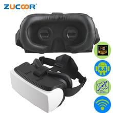 All In One 3D VR GlassesAndroid BOX Virtual Reality Google Cardboard Video Movie Game Head Mount Helmet WiFi Vrbox Case +Gamepad