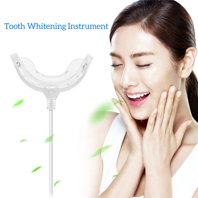 16 Blue LED Cold Light Teeth Whitening Instrument USB Dental Professional Tooth Whitener Bleaching Personal Oral Care Device 38