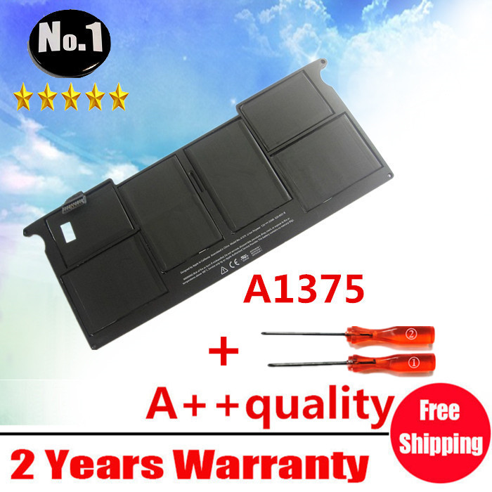 Wholesale New laptop Battery for Apple MacBook Air 11 A1370 2010 year Replace A1375 Free shipping