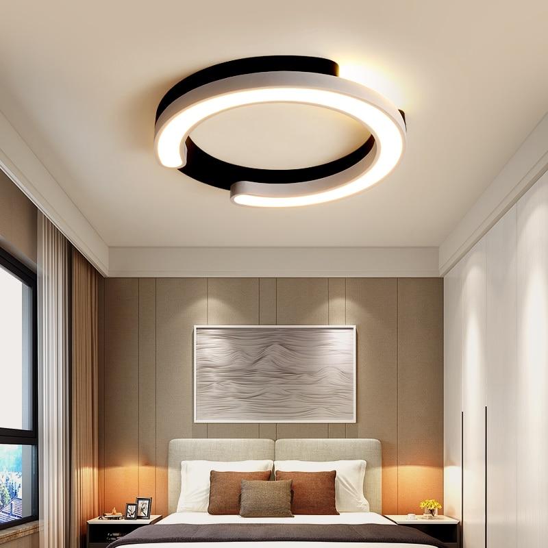 preto branco lustre de teto para o quarto sala de estar corredor lustre rodada regulavel moderno