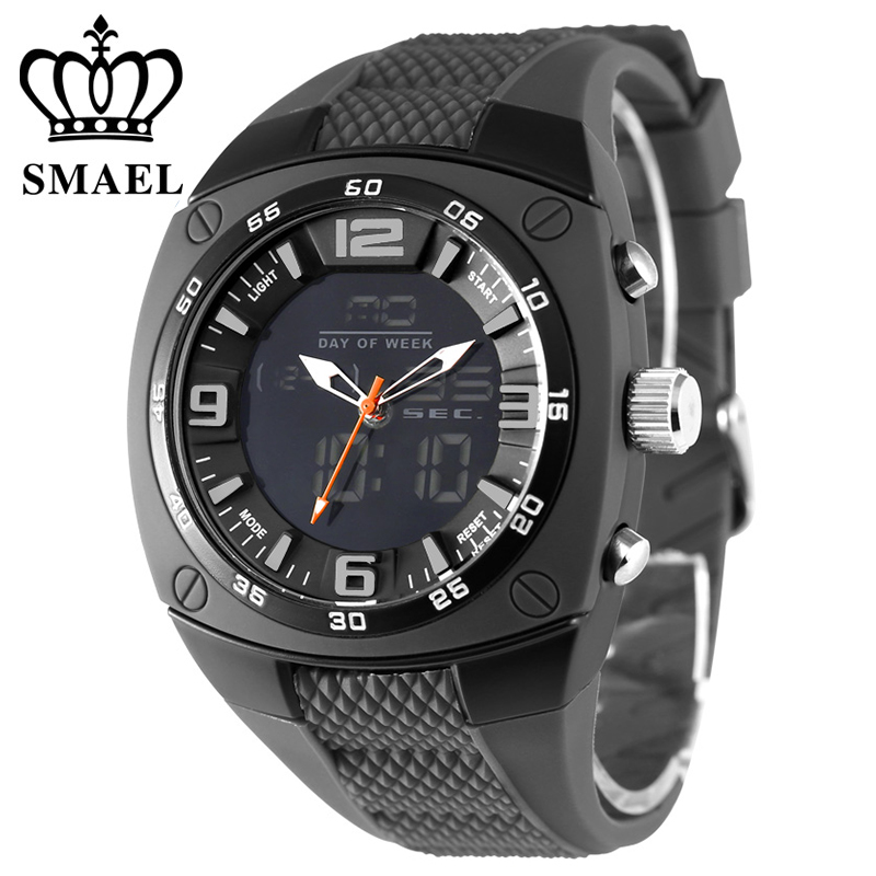Cool Military Watches Men 30M Waterproof Shock Resisitatnt Silicone Band Fashion Casual Watches Army Quartz Watch