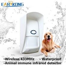 Hot Bán 433 MHz Wireless PET Miễn Dịch Detector Thích Hợp cho dưới 25 kg động vật, Passive Cảm Biến Hồng Ngoại Cho G90B/GSM/Wifi Báo Động