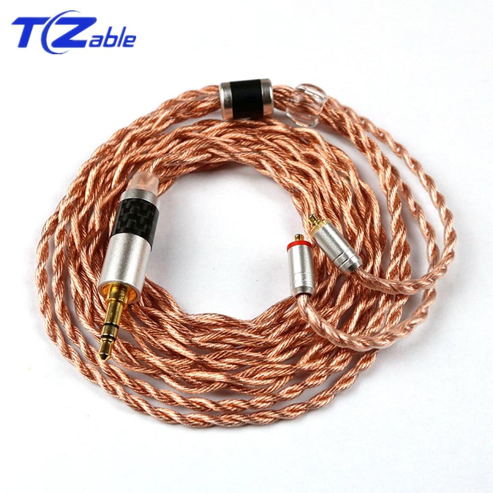 HIFI Earphone Cable 3.5 Balanced Plug Audio Jack 3.5mm Stereo For MMCX Connector SE215 SE315 SE425 SE535 SE846 Headphone Jack