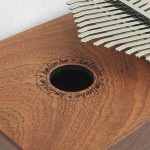 17 Keys Wood Thumb Piano Tools Instrument Pine Aluminum Bar Portable Finger Board With Tune Hammer Kalimba mbira Keyboard Music(China)