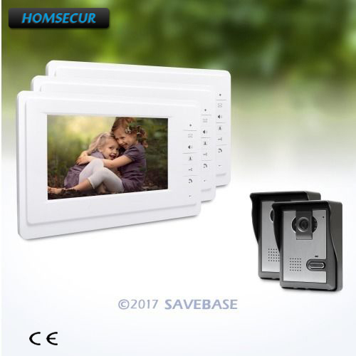 HOMSECUR 7 Video Door Entry Phone Call System with IR Night Vision for Home Security