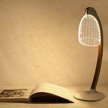 3D Lamp stereo vision Small night light Baby bedroom light USB acrylic LED  desk lamp visual Atmosphere 3 D lamp Strange new lamp