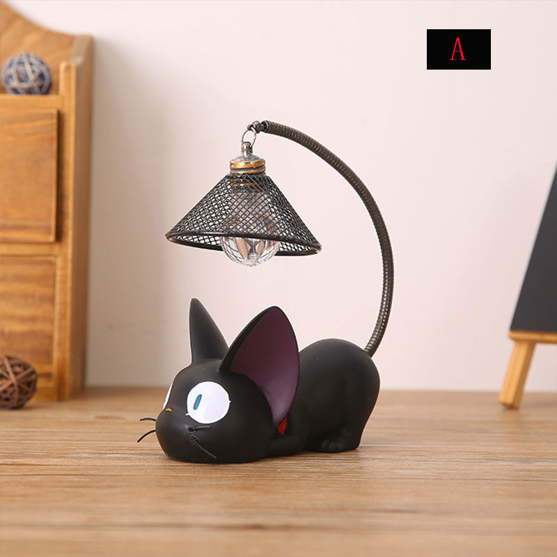 Night Lights Resin Cat Animal Light Lovely Ornaments Home Decoration Gift Small Baby Room Lamp Sleeping LED