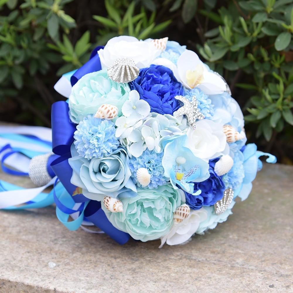 Wedding Bouquets De Mariage 2017 Artificial Bridal Bouquet Crystal