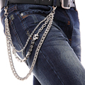 Punk Pants Chains Fashion Rock Waist Accessories Unisex Hip-hop Skull Pendant Punk Rock Cowboy Pants Trousers Chain Gift
