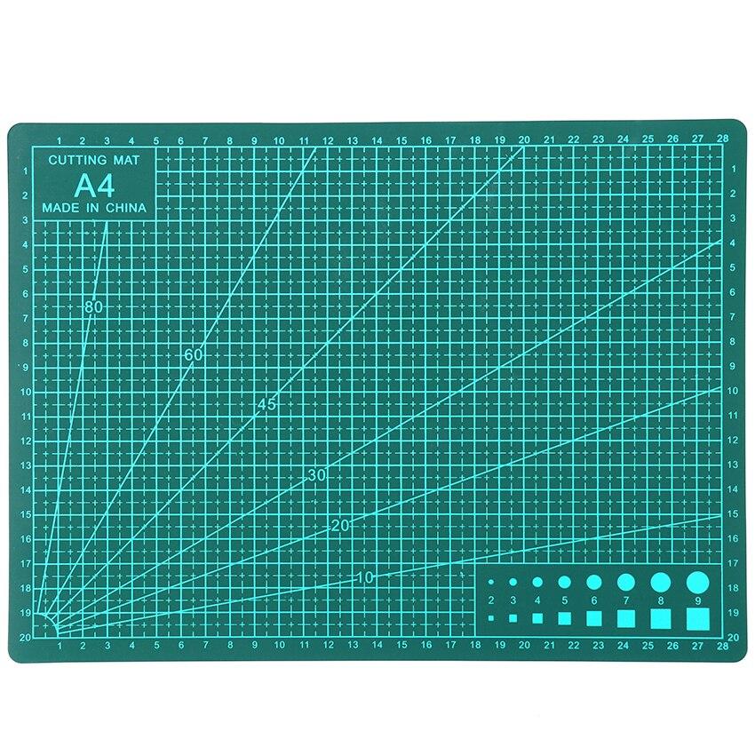 1PC 30cm X22cm Pvc Rectangle Cutting Mat Tool A4 Craft Dark Green