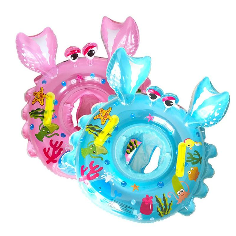 Baby Seat Float Swim Ring Inflatable Safety Kids Swimming Pool Water Toys  Baby Load-bearing Water Sport Fun Cute Gift