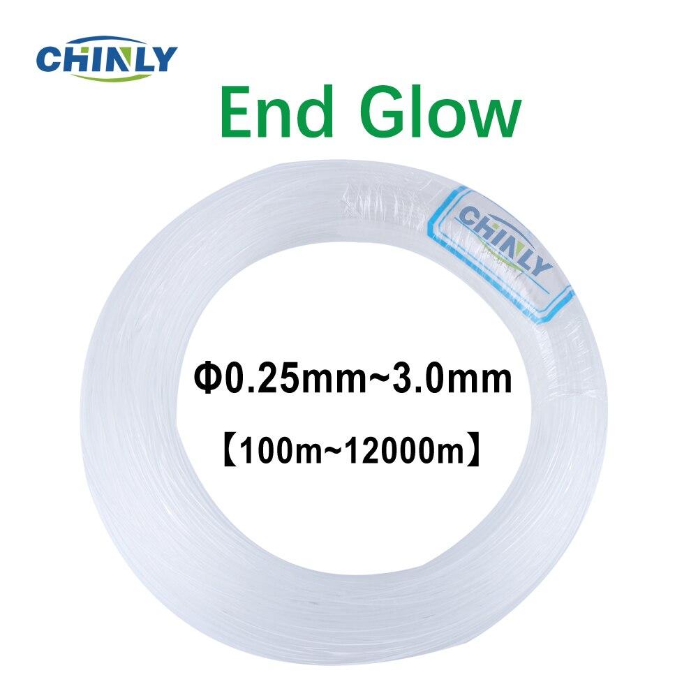 Cable de fibra óptica de plástico PMMA, controlador de motor de iluminación de rollo completo, cable LED en 0,25mm ~ 3,0mm 100m a 12000 m, iluminación de fibras