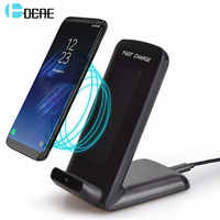 DCAE QI Wireless Charger For IPhone X Smart IC Wireless Fast Charger Phone Holder For IPhone