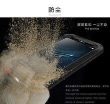 Amor Mei Poderosa Para O Caso Huawei P9 Premium Plus Alumínio À Prova de Choque À Prova D Água Da Tampa Do Caso para Huawei P9 livre de Vidro Temperado