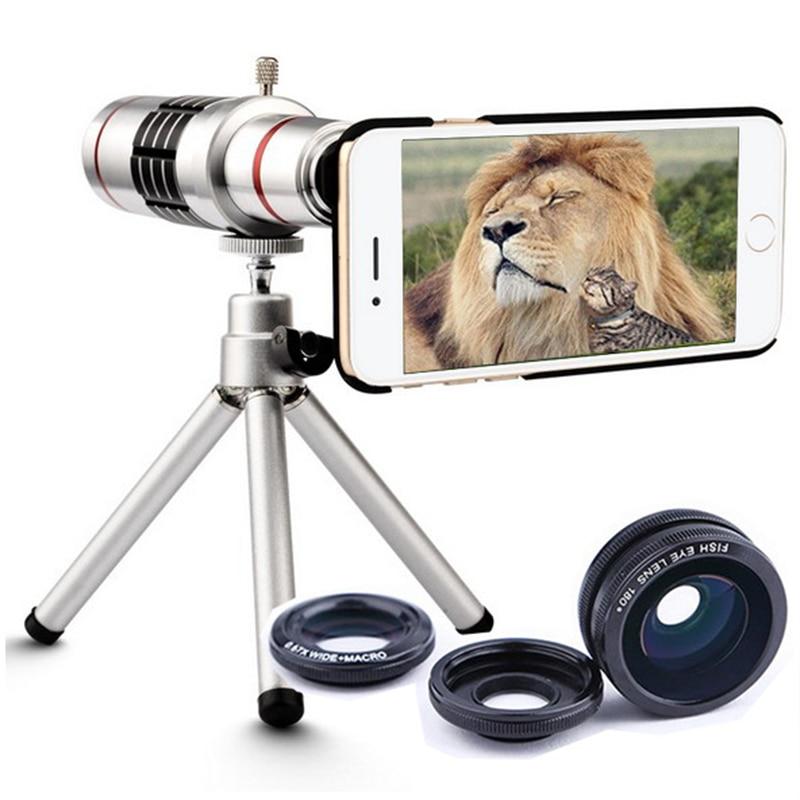 imágenes para Lente de la cámara 18x de Zoom Telescopio Del Teléfono Móvil Teleobjetivo Teléfono con El trípode Para la Galaxia A320 A520 A3 A5 A7 2017 J5 J7