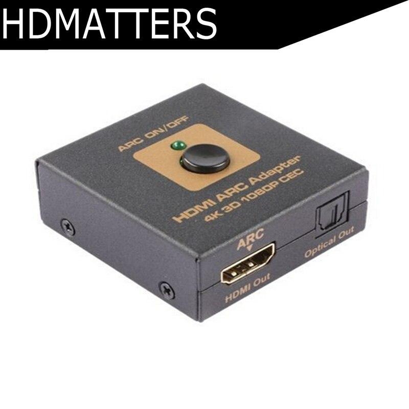 Convertisseur adaptateur HDMI ARC (canal de retour Audio HDMI) compatible 3D CEC + sortie audio Spdif