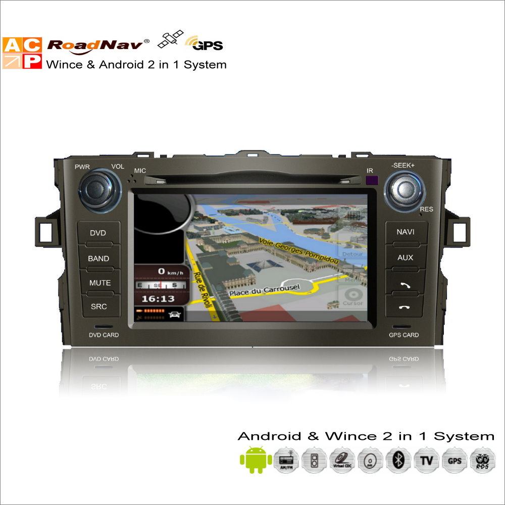 Android Car Multimedia Stereo Para Toyota Auris/Corolla Hatchback 2007 ~ 2012-Ra