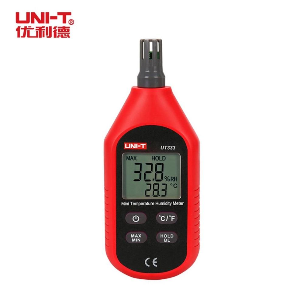 UNI-T UT333 Mini Thermometer Hygrometer LCD Digital Temp Air Temperature Tester Humidity Meter Moisture Sensor Portable Tester uni t ut332 1 8 lcd digital temperature moisture meter tester red black 4 x aaa
