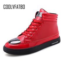 COOLVFATBO Trend Men's Vulcanized Shoes Black High Top Lace-up Autumn Winter Casual Canvas Shoes For Men Boys Sneakers Without