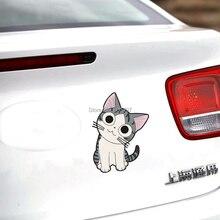 Новейший Милый мультяшный Кот Чи милые домашние автомобильные наклейки для автомобиля Декали для Toyota Honda Chevrolet Volkswagen Tesla BMW Lada