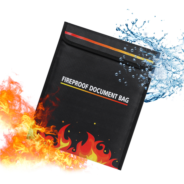 Us 11 57 27 Off Fireproof Doent Bag 15 35 X 6 Fire Resistant For Cash Passports Jewelry Photos Valuables In
