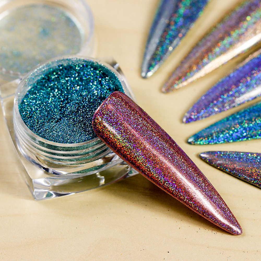 966c1cb2cb 1 Pot Neon Crystal Nail Glitter Pigment Super Shine Mirror Sequins Nail Art  Holographic Chrome Dipping Powders Nail Decorations