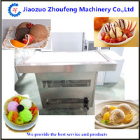 Marble table frying ice cream machine yogurt fruit fried icecream making machine