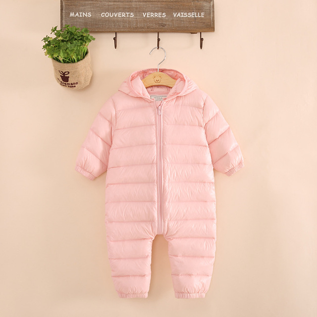 1bf7d6b05 Winter Baby Romper Newborn Overalls Infant Girls   Boys Jumpsuits ...
