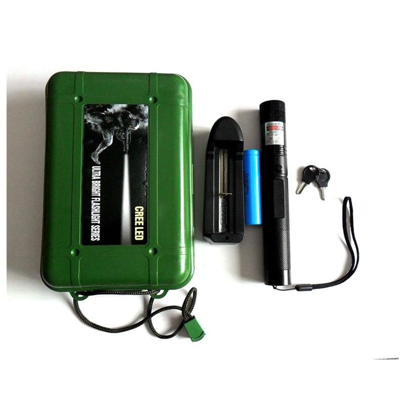 ReadStar Vert 303 haute pointeur Laser laser pen brûler l'allumette avec étoiles caps 4 couleur Cadeau boîte incluez la batterie et chargeur