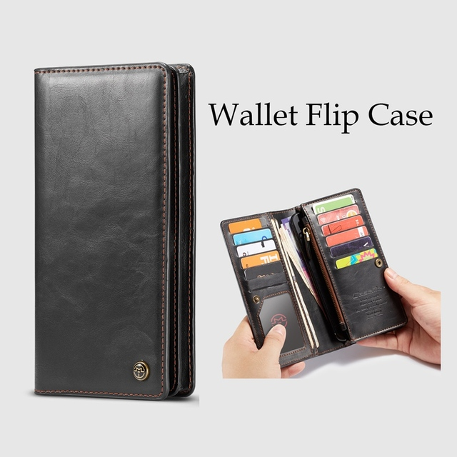 4-6.5 Inch Phone Bags Leather Flip Wallet Case for Samsung Galaxy S10 Plus Case for iPhone X XS Max XR Case for Xiaomi Mi 9 Capa