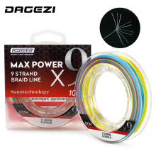 DAGEZI 9 Strand Weaves 100M PE Braided Fishing Line 25-100LB Super Strong Multifilament Fishing Lines For carp fishing fulljion 14 colors 300m 328yards pe braided fishing line 4 stands super strong multifilament fishing lines for carp fishing