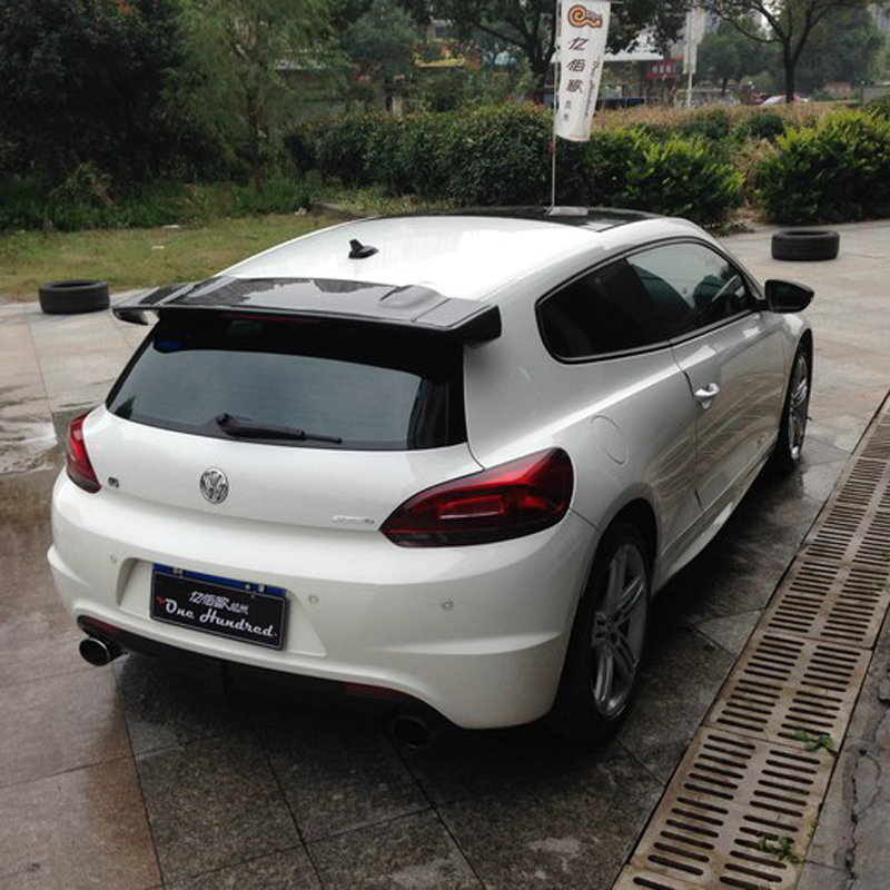 Auto Part Carbon Fiber Rear Roof Lip Spoiler Trunk Boot Wing Car Styling Fit For Volkswagen VW Scirocco 2010 2011 2012 2013 2014