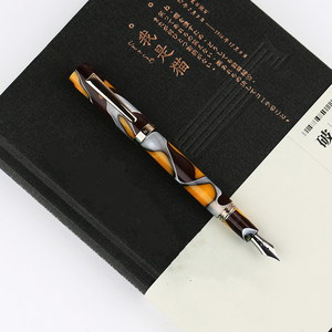 Image 3 - Moonman N2 Mini Resin Acrylic Amber Fountain Pen Pocket Short Ink Pen Fashion Gift Set Extra Fine/ Fine 0.38/0.5mm for Office